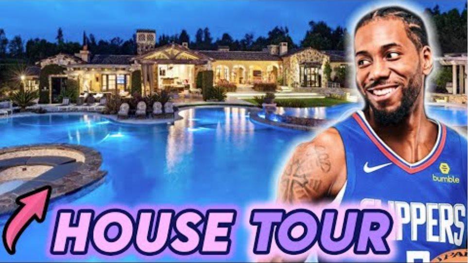 Kawhi Leonard |  Περιήγηση στο σπίτι 2020 |  NBA Star Mansion 13,3 εκατομμύρια δολάρια