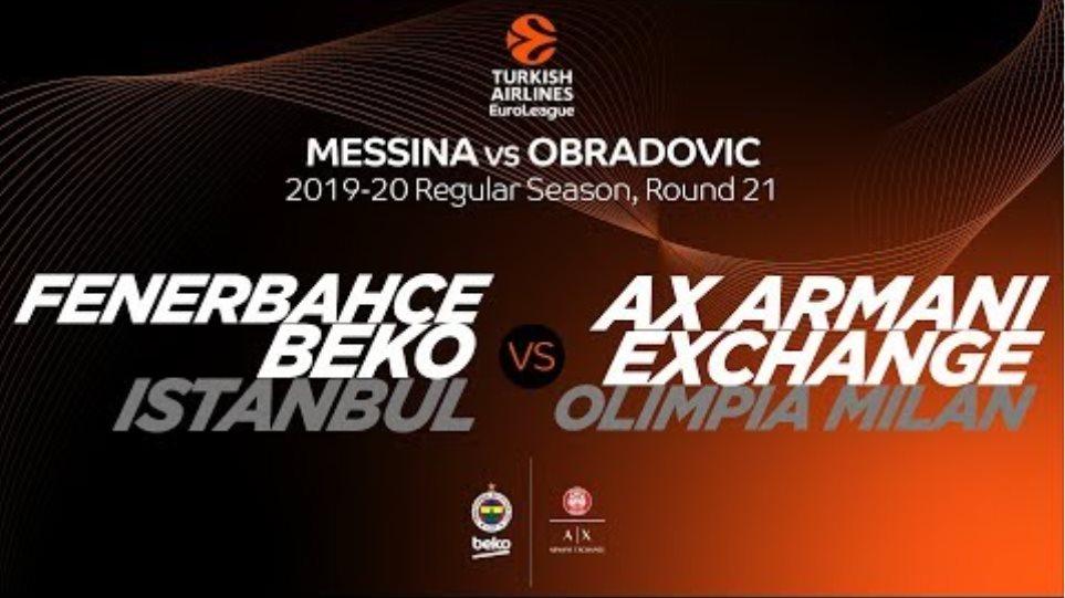 Fenerbahce Beko Istanbul vs AX Armani Exchange Olimpia Milan: Messina vs. Obradovic
