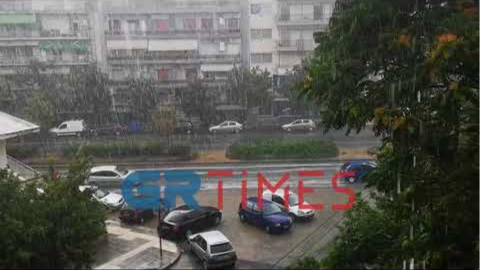 Καταιγίδα στη Θεσσαλονίκη