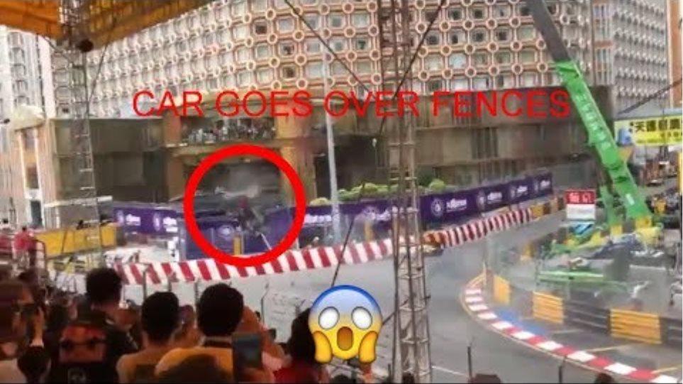 Macau HUGE CRASH F3 2018! Sophia Flörsch GOES OVER THE FENCES (NEW VIEW)