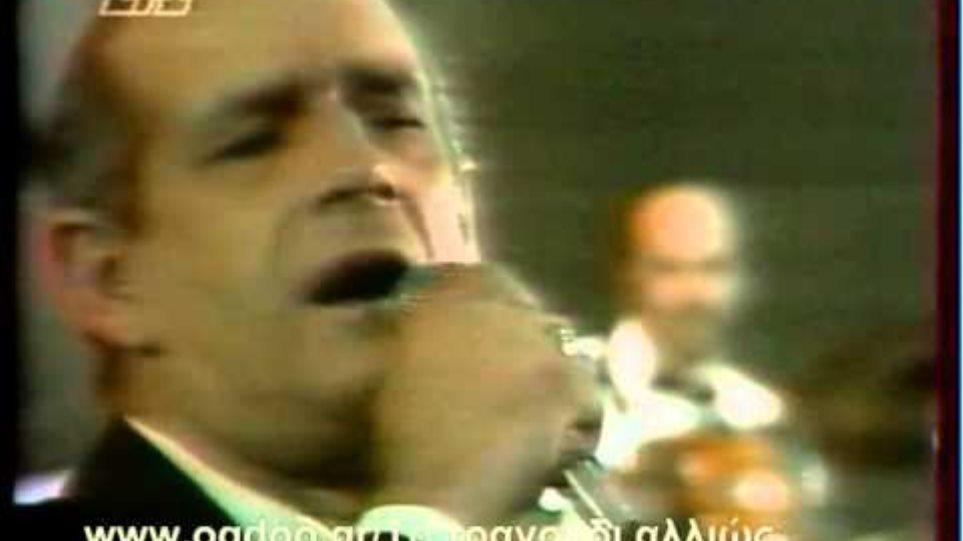 Ο Δημήτρης Μητροπάνος τραγουδά Γιώργο Ζαμπέτα