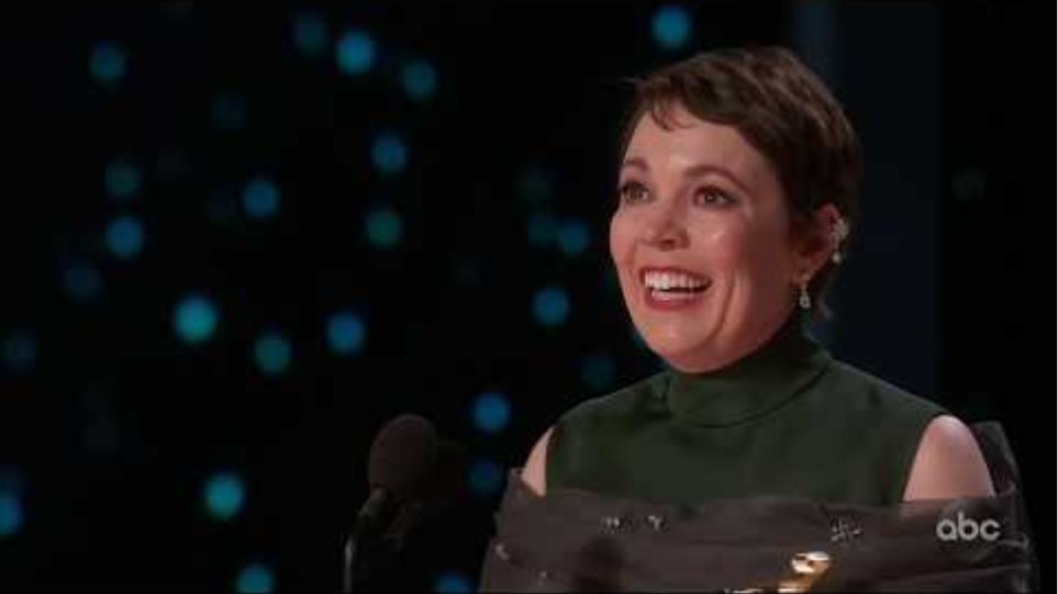 Olivia Colman Accepts the Oscar for Lead Actress