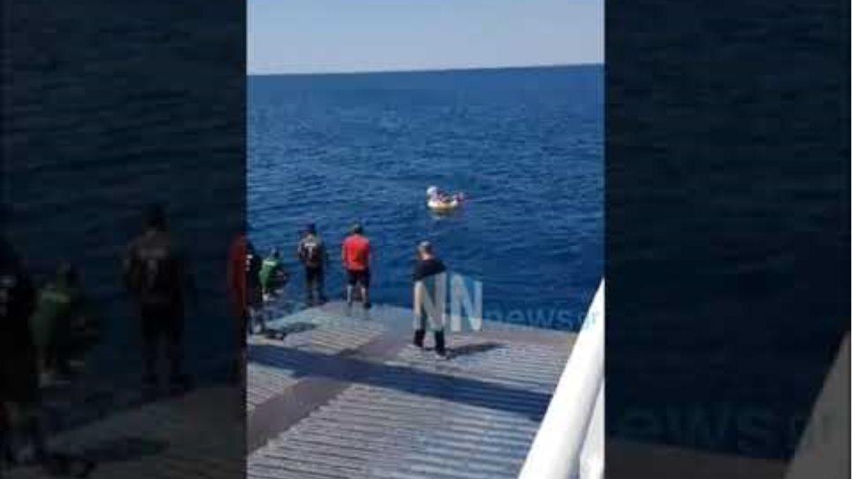 Νέες εικόνες από την διάσωση του παιδιού από Ferry boat στο Αντίρριο.