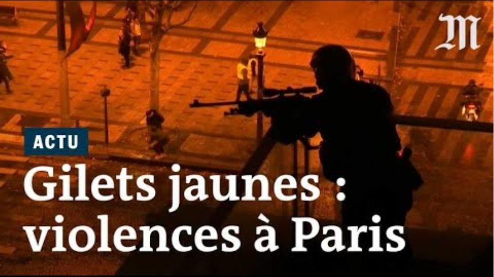«Gilets jaunes» : les images des violences au cœur de Paris
