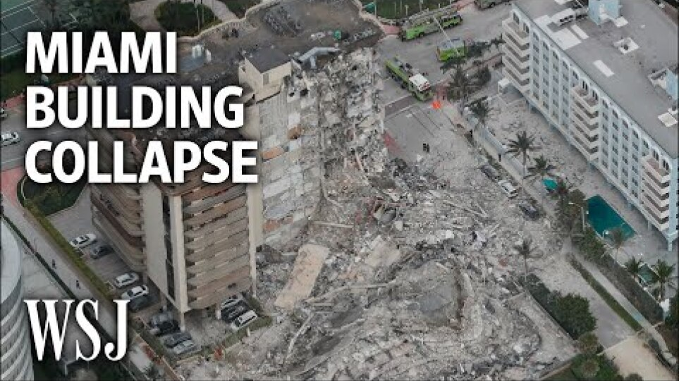 Video Shows Moment of Miami Building Collapse | WSJ
