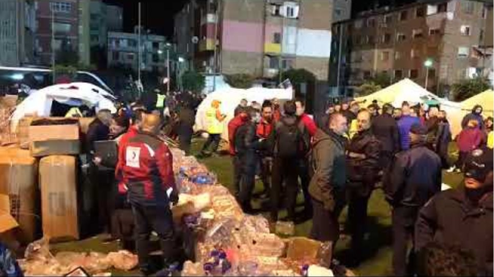 Albania earthquake:: The citizens spend the night at Durres's football stadium