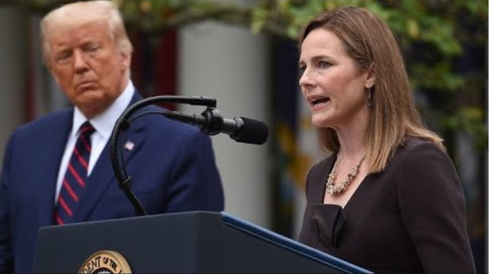 Amy Coney Barrett speaks after Trump announces her nomination for Supreme Court