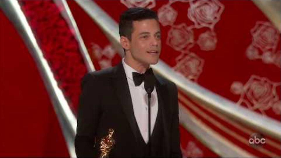 Rami Malek Accepts the Oscar for Lead Actor
