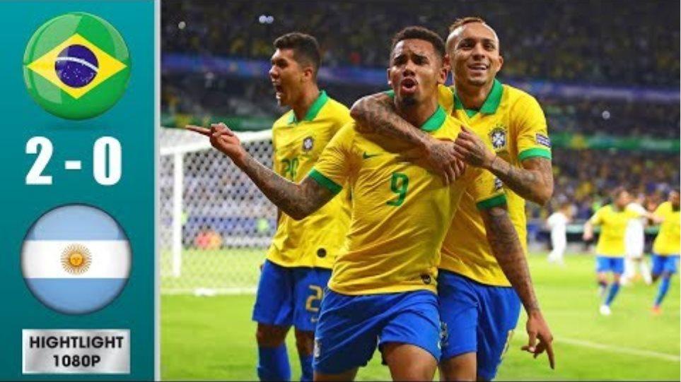 Brazil vs Argentina 2-0 Extended Highlights & Goals (02/07/2019)
