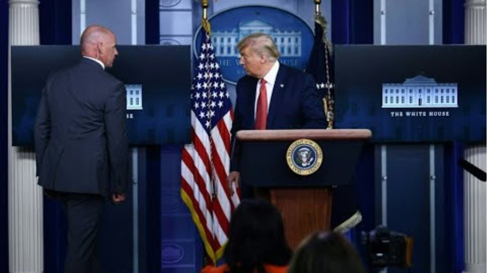 TRUMP EVACUATED: President removed from White House press briefing by Secret Service