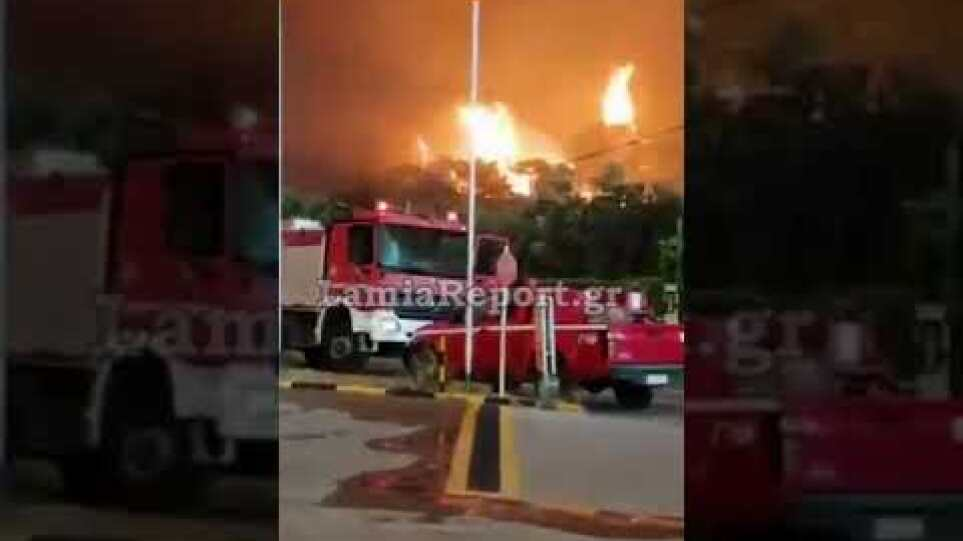 LamiaReport.gr: Μεγάλη πυρκαγιά κοντά σε κατοικημένη Λίμνη Ευβοίας