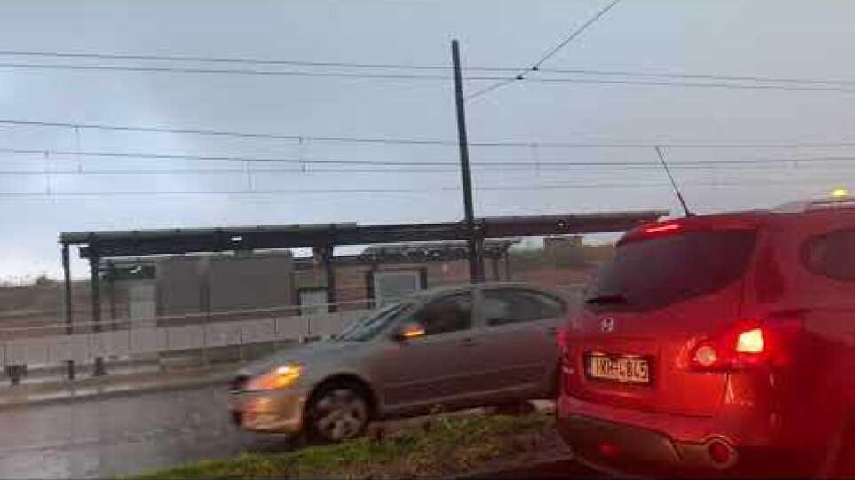 Βίντεο καταιγίδα Αθήνα