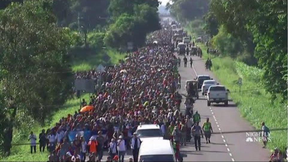 Αποτέλεσμα εικόνας για λαθρομετανάστες πορεία μεξικο