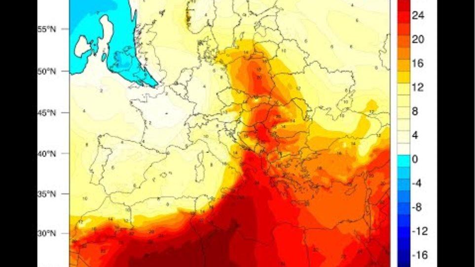 Meteo.gr: Μεταφορά θερμών αερίων μαζων (1/10-5/10/2020)