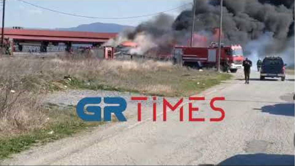 Μεγάλη φωτιά στη Θέρμη 2 -GRTimes