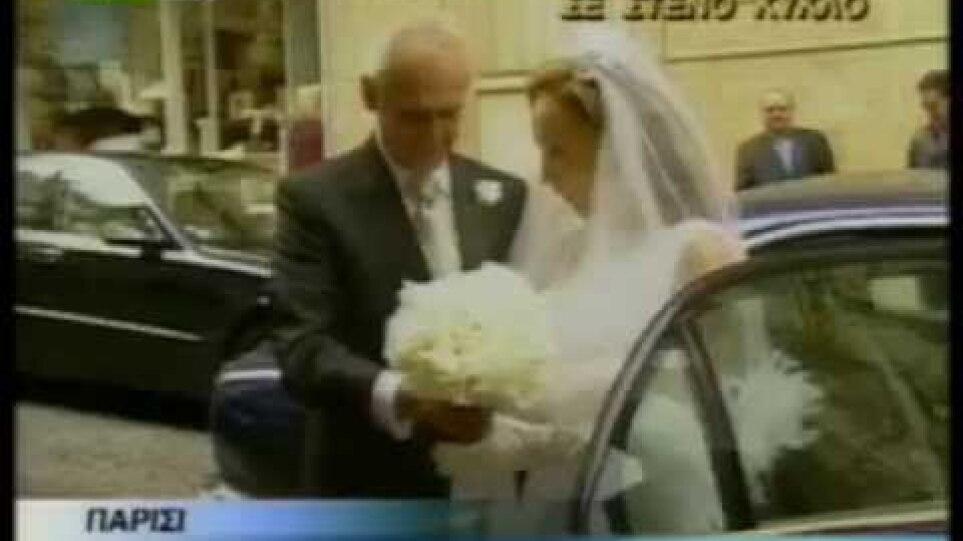 11/7/2004 ο γάμος του Άκη Τσοχατζόπουλου, με την Βίκυ Σταμάτη, στο Παρίσι.
