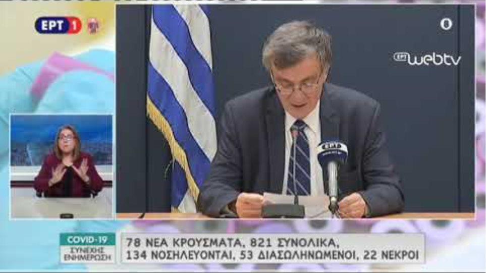 Δηλώσεις Τσιόδρα 25/03/2020