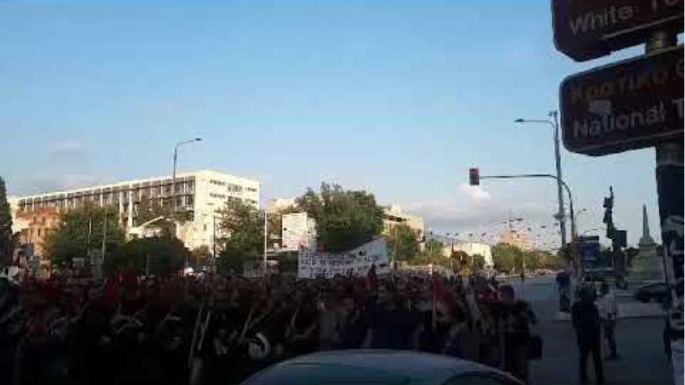Διαδηλώσεις στο κέντρο της Θεσσαλονίκης