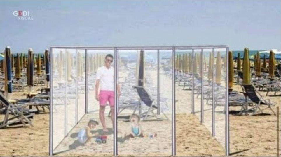 Coronavirus, box di plexiglass in spiaggia: i social si scatenano