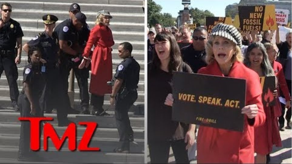 Jane Fonda Arrested at U.S. Capitol During Climate Change Protest | TMZ