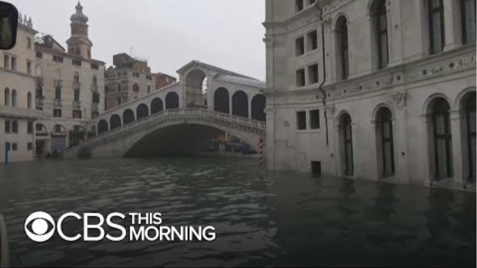 Venice flooded by second-highest tide in its history