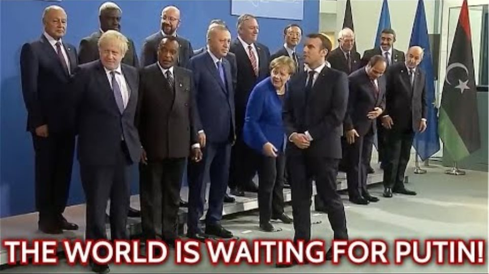 WHERE IS PUTIN!? World Leaders Can't Start Berlin Conference Photo-Op Without Russian President