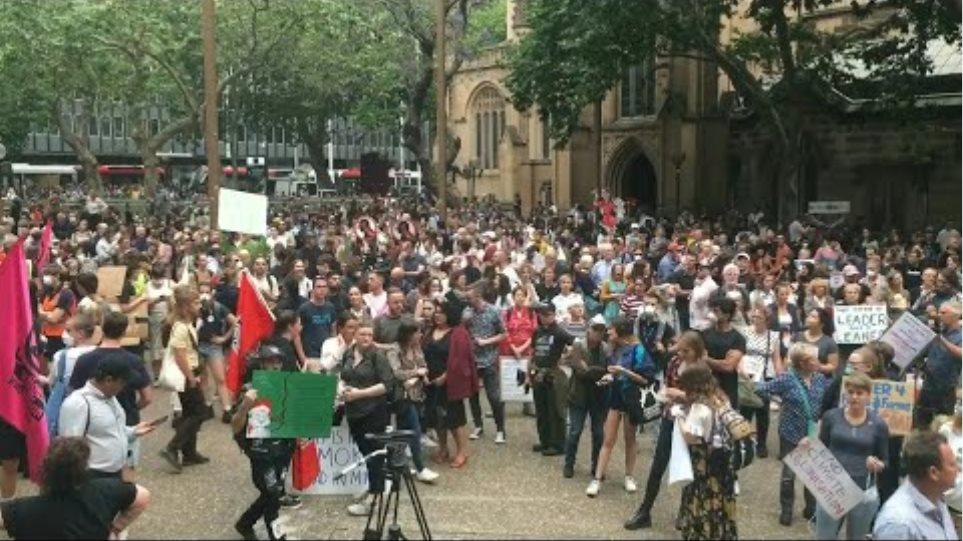 Australians join Sydney climate protest as bushfires rage | AFP