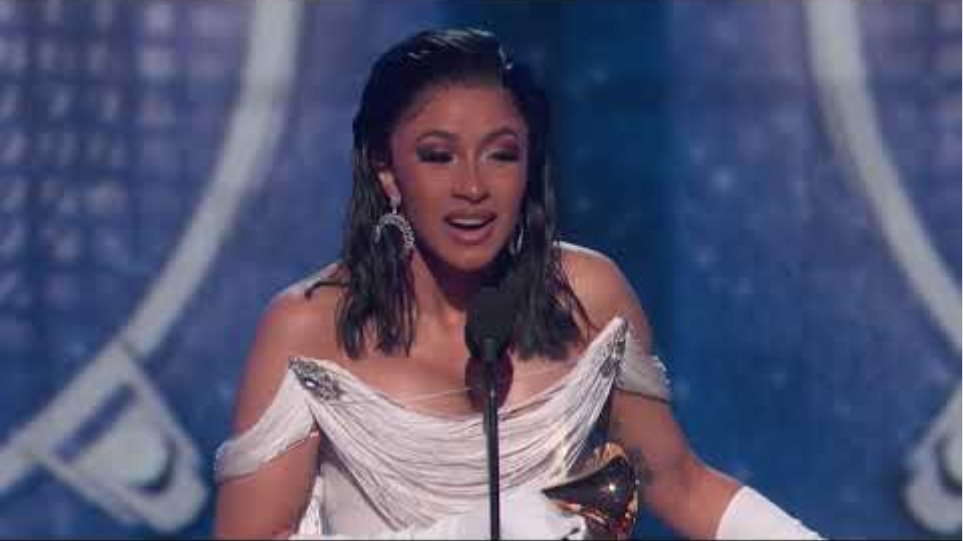 Cardi B Wins Best Rap Album | 2019 GRAMMYs Acceptance Speech