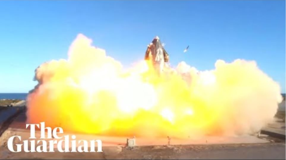 Fireball engulfs SpaceX's Starship SN8 rocket