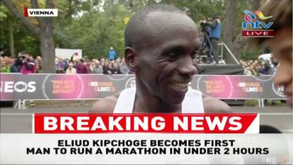 BREAKING: Eliud Kipchoge's statement after beating INEOS 1:59 Challenge