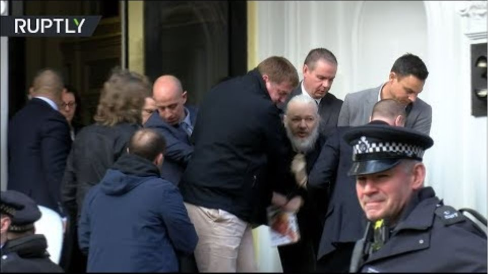 EXCLUSIVE: Assange arrested & escorted out of Ecuadorian Embassy