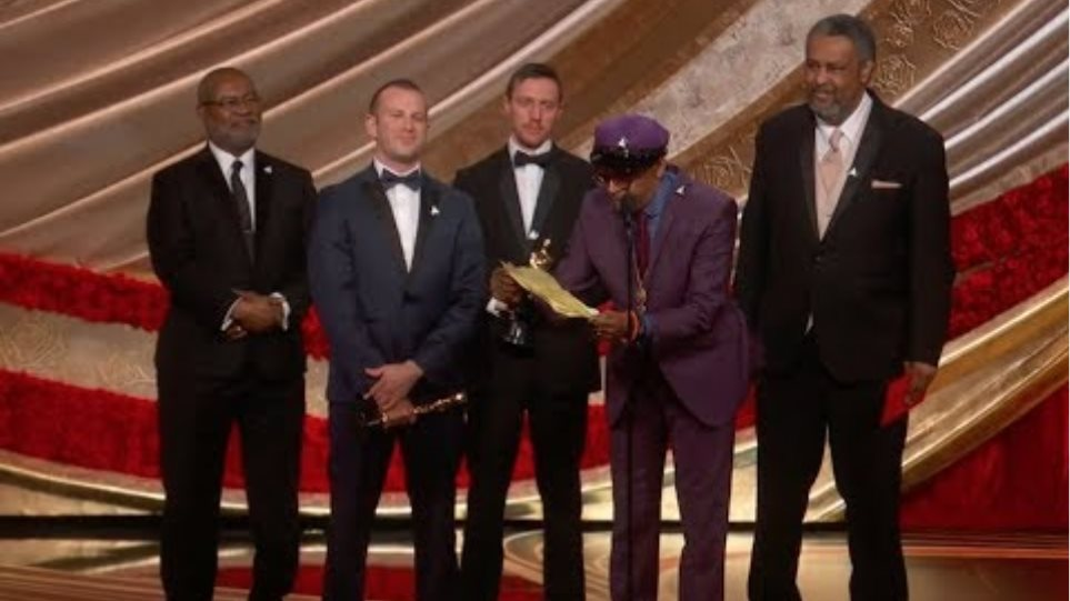 BLACKkKLANSMAN Accepts the Oscar for Writing (Adapted Screenplay)