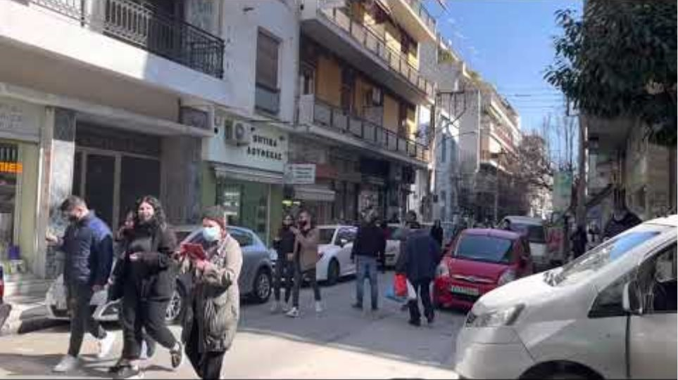 Οι πρώτες εικόνες από την ισχυρή σεισμική δόνηση που έγινε στη Λάρισα