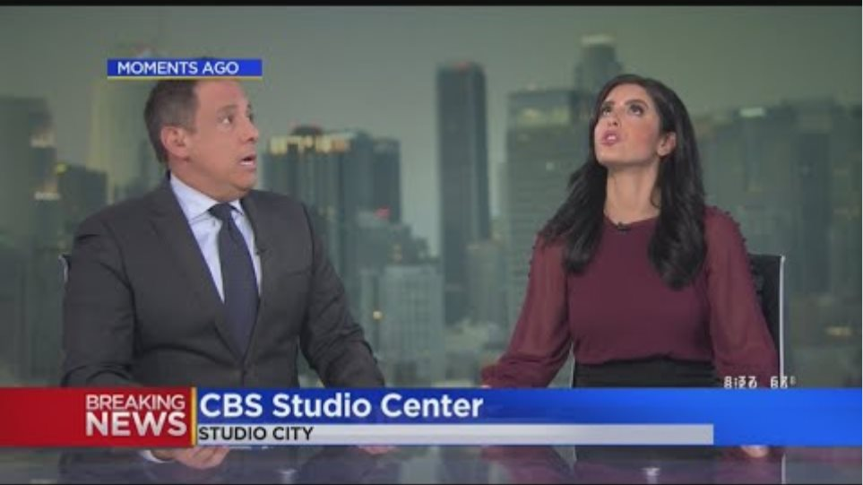 Earthquake Hits During Evening Newscast