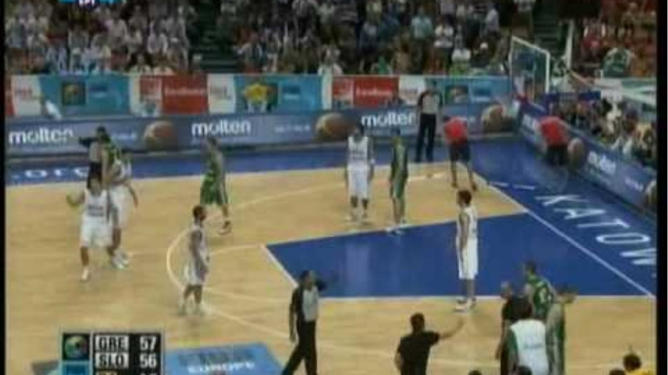 ΕΛΛΑΔΑΡΑ - Σλοβενία 57-56 Χάλκινο στο Ευρωμπάσκετ 2009