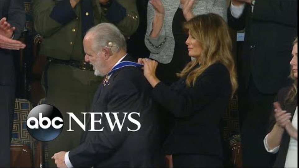 Trump honors Rush Limbaugh during State of the Union | ABC News