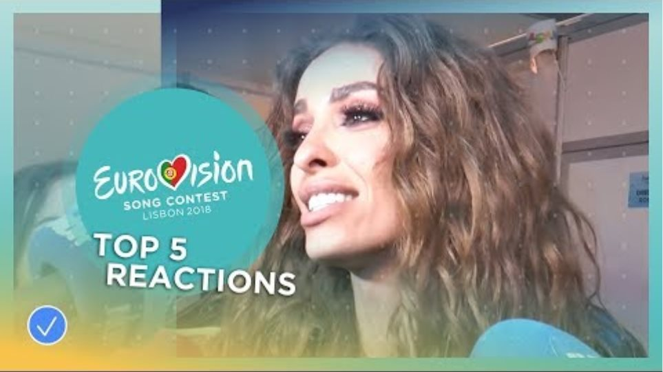 Reactions from the top 5 of the 2018 Eurovision Song Contest