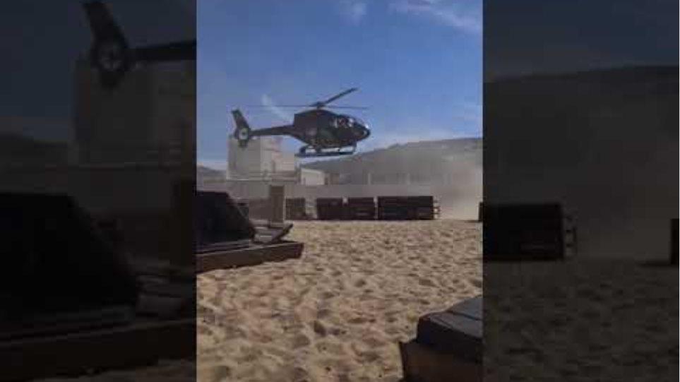 Βίντεο: Δείτε τον επιχειρηματία να προσγειώνει το ελικόπτερο του μέσα στο beach bar!