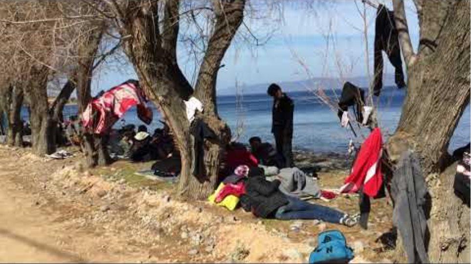 Βίντεο μεταναστών Λέσβος