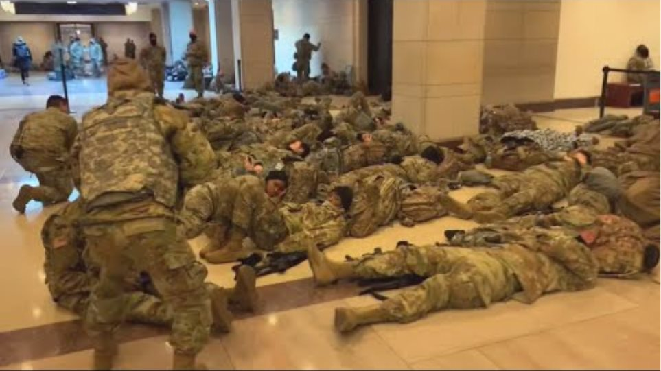Thousands of troops in Washington for inauguration