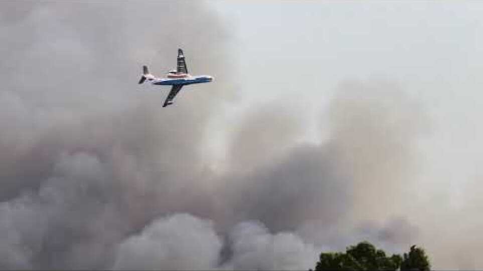 Forest fire in Rhodes, Theologos, 1st August 2021