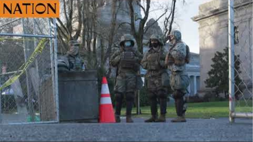 US: Troops guard Washington State Capitol building