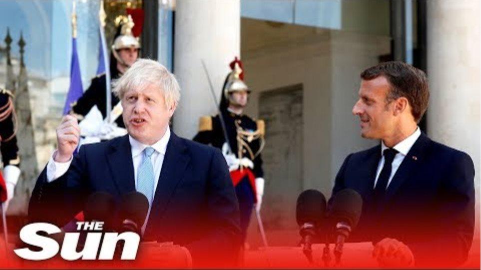 Boris Johnson & Emmanuel Macron issue joint statement (FULL)