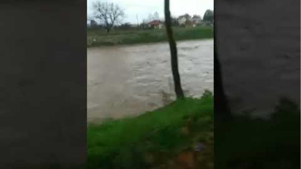 Αγιόκαμπος Λάρισας νεροποντη-πλημμυρα