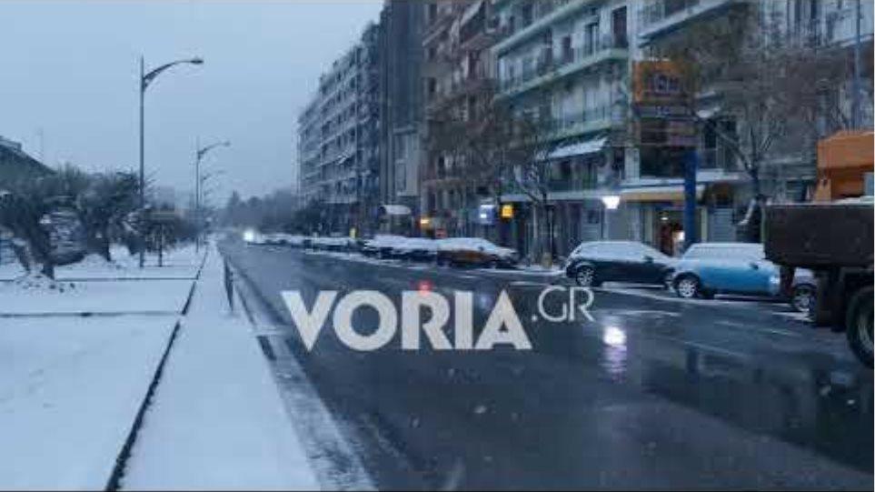 Χιονόπτωση στη Θεσσαλονίκη