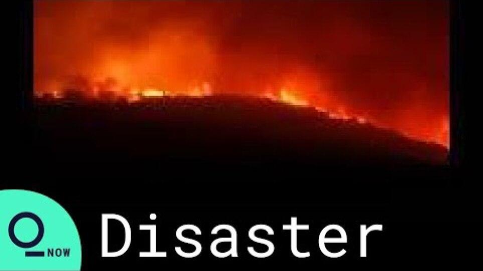 Fires Rage Across Italy's Sardinia Island