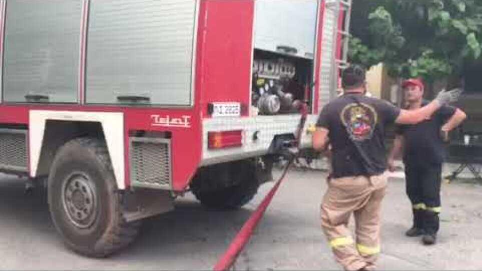 Αφίδνες - Τροφοδοσία Πυροσβεστών