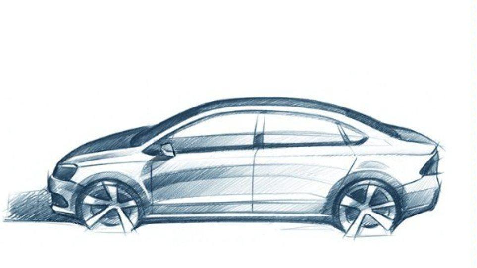 Αυτό είναι το σχέδιο του VW Polo sedan