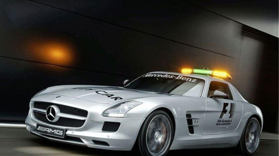 "Mercedes SLS: Tο νέο ""καυτό"" αυτοκίνητο ασφαλείας στη F1 (VIDEO)"