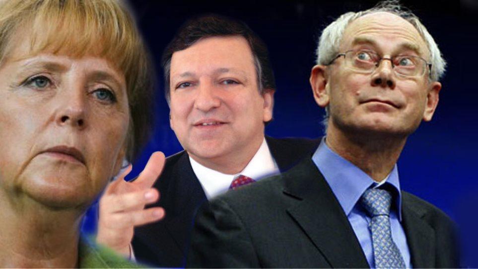 Κινδυνολογεί η  Μέρκελ, καθησυχάζουν Μπαρόζο και Γιούνκερ